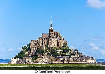 Mont Saint Michel Abbey - Abbey of Mont Saint Michel in a...