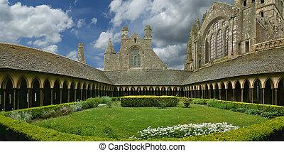 mont saint-michel, normandia, france--one, közül, a,...