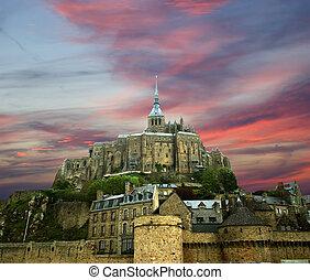 mont saint-michel, normandie, frankrike