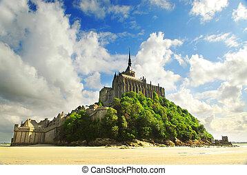 Mont Saint Michel - View on Mont Saint Michel abbey in...