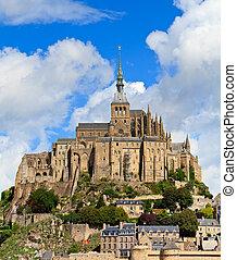 mont22#saint michel, abbotskloster, normandie, /, bretagne,...