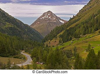 montaña, austria, valle, tirol