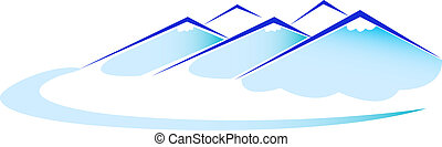 montaña azul