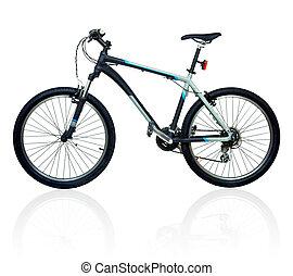 montaña, bicicleta, bicicleta