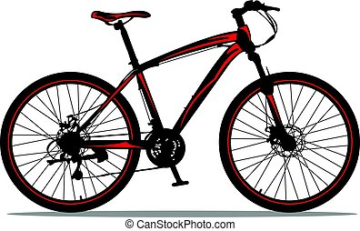montaña, bike.