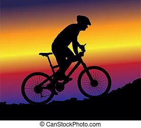 montaña biking, -, plano de fondo