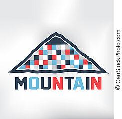 montaña, bloques