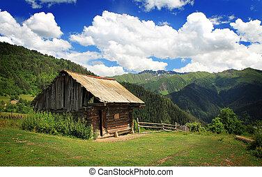 montaña, casa