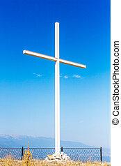 Montaña, cima, cruz
