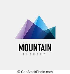 montaña, diseño geométrico, logotipo