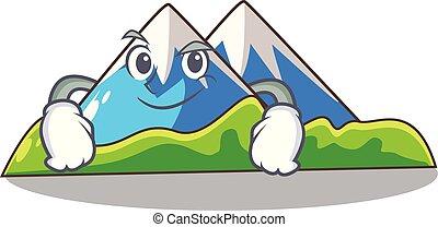 montaña, el smirking, carácter, forma, miniatura