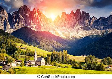 montaña, excepcional, paisaje
