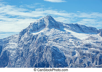 Montaña,  fisht, pico, ocaso
