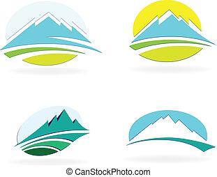 montaña, icono