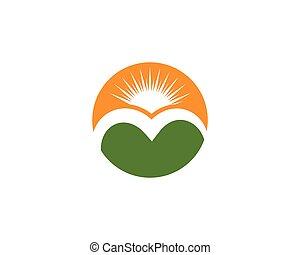 montaña, icono, logotipo, empresa / negocio