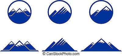 montaña, iconos