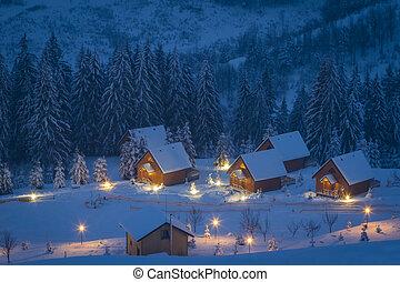 montaña, invierno