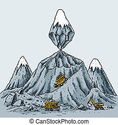 montaña, minería