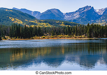montaña, nacional, rocoso, parque