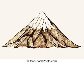 montaña, nevoso