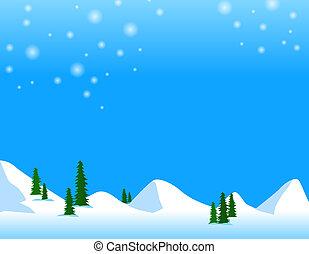 montaña, nieve