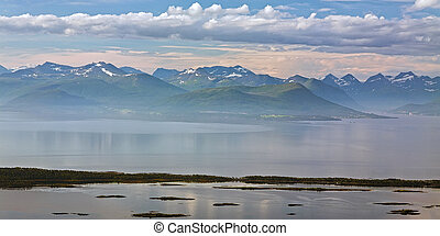 montaña, noruega, molde, vista