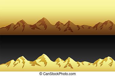 montaña, paisajes