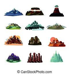 montaña, paisajes, colección
