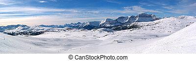 montaña, panorámico, 2