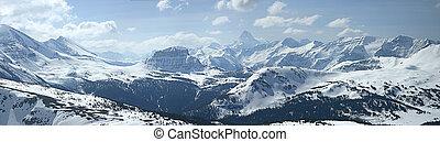 montaña, panorámico