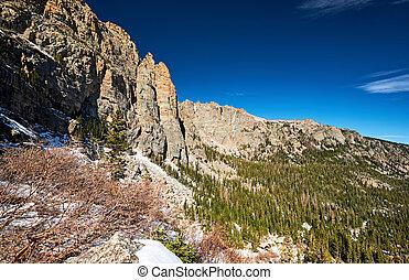 montaña, parque nacional, rocoso, paisaje