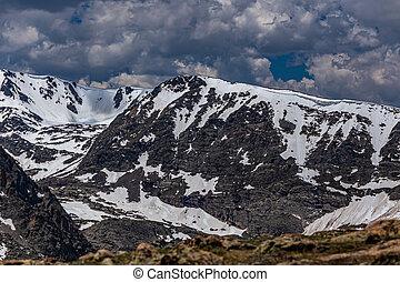 montaña, parque, rocoso, nacional