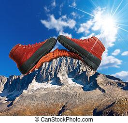 montaña que sube, concepto