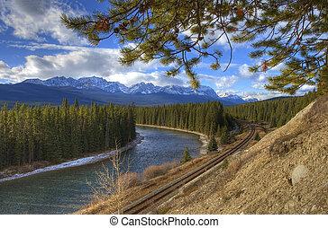 montaña, río