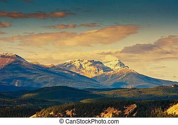 montaña rocosa, parque, nacional, banff