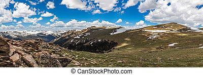 montaña, rocoso, parque nacional