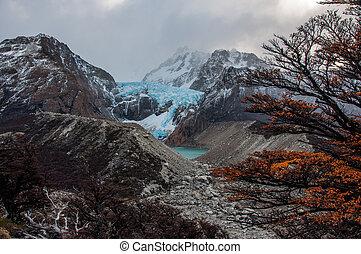 montaña, roy, glaciar, gama, fitz, argentina