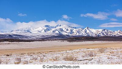 montaña, sayan, montañas, munch-sardyk, serie, supra-sumo