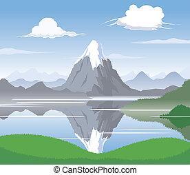 montaña, scape