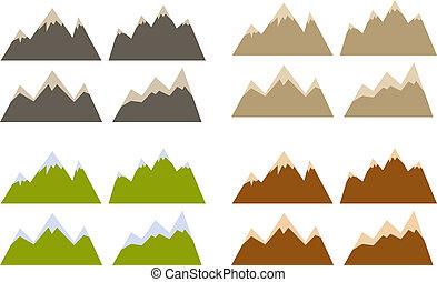 montaña, siluetas