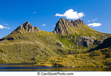montaña, tasmania, cuna