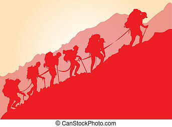 montaña, trepadores