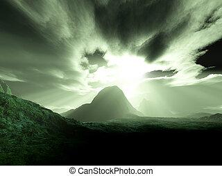montaña, triste