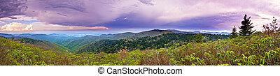 montañas, 180, tormenta, grado, panorama