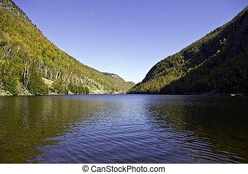 montañas, adirondack, otoño