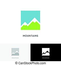 montañas altas, logotipo