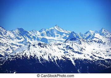 montañas, cima