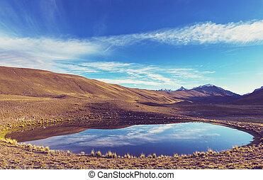 montañas, en, bolivia