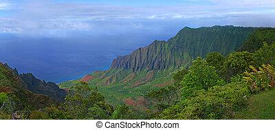 montañas, hawai, kauai