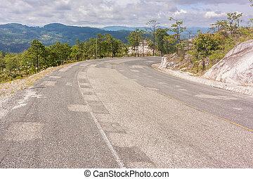 montañas,  honduras, camino,  yamaranguila, paisaje